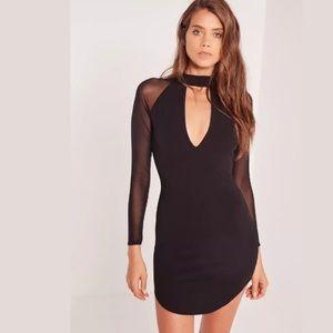 MISSGUIDED Choker Neck Bodycon Dress